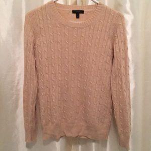J. Crew Cable Knit Sweater Tan/Khaki